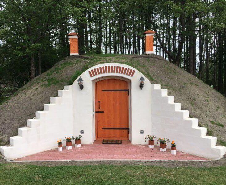 Земляной погреб в Пярнуском уезде