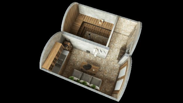 Koobassaun 19,4 m² STANDARD (klaaslahendus)