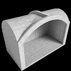 Модуль с крестовым сводом